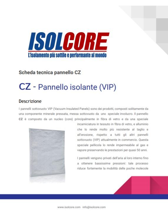 Scheda Tecnica Isolcore CZ